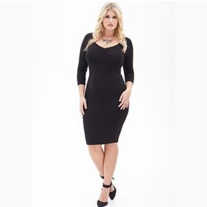 Forever 21 plus size black dress size 3x women